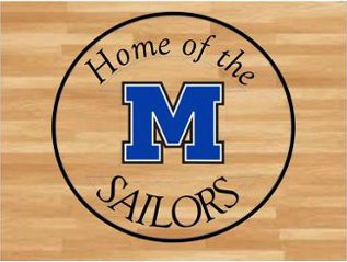 "Text ""Home of the Sailors"" around a big letter M"